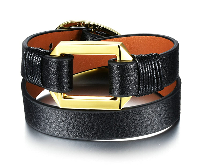 Bangle Bracelet Hollow Rectangle Gnzoe Men Women Gold Plated Bracelet
