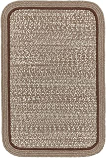 product image for Rhody Rug CC38R084X108S 7 x 9 ft. Casual Comfort Mocha Banded Braided Rug44; Rectangle