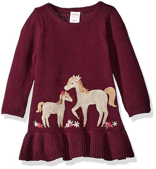 e01e7ce33e1 Gymboree Little Girls   Toddler Fuchsia Horse Sweater Dress