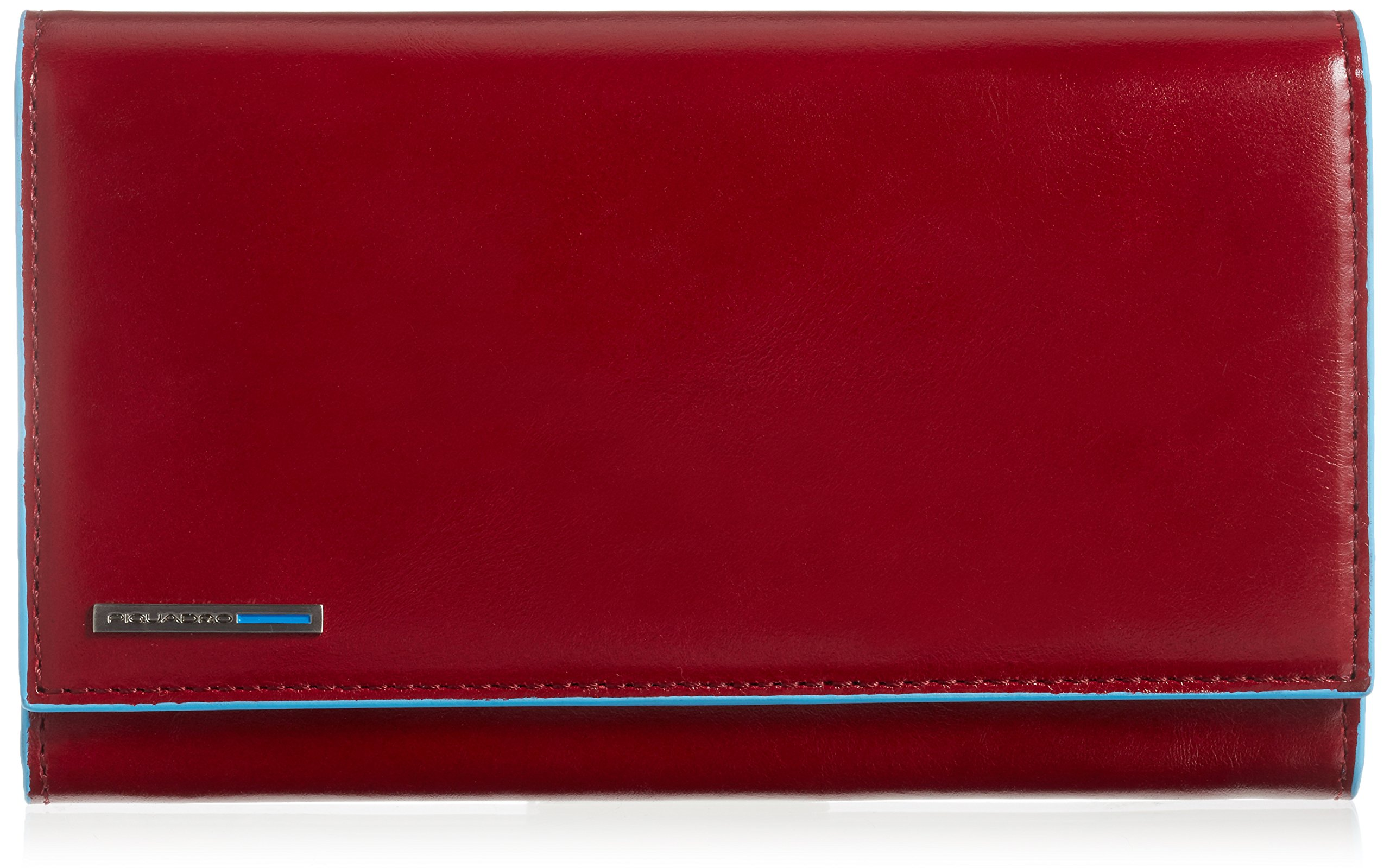 Piquadro Women's Wallet with Flap and Three Dividers with Document Holder, Red, One Size