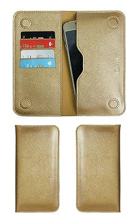 Amazon.com: Emartbuy Metallic Gold Textured PU Leather ...