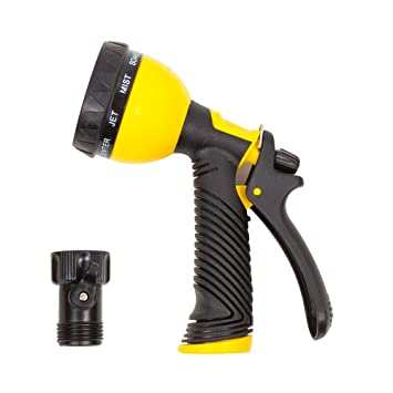 Garden Hose Spray Nozzle By GardenGuru | 9 Pattern Heavy Duty Multi Sprayer