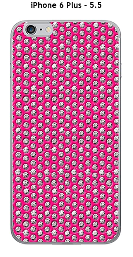 Cover Apple Iphone 6 Plus 55 Design Diamanti Su Sfondo Rosa Amazon