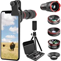 Eeilyin 3 in 1 Phone Special Effects Lens Fisheye Magnifier Wide Angle Micro Clip Type Lens Attachments