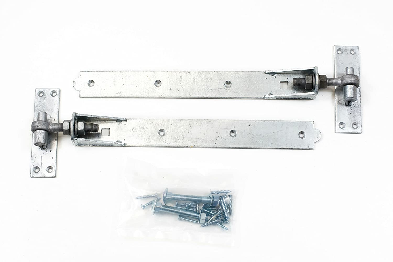 1st Fix South 1 Pair Of 450mm (18') Galvanized Adjustable Hook And Band Gate Hinges