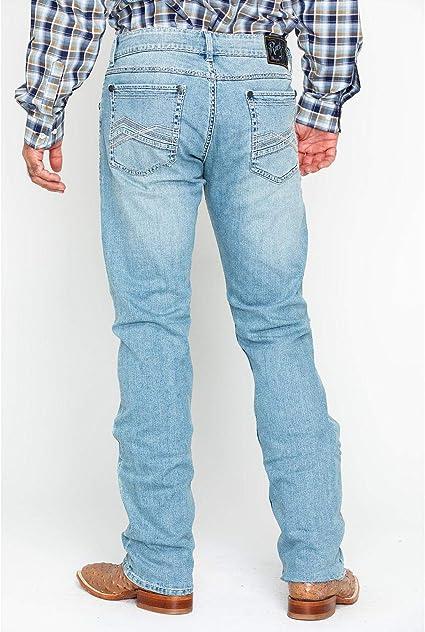 Wrangler Rock 47 Men/'s Light Wash Slim Straight Leg Jeans MRS47BT