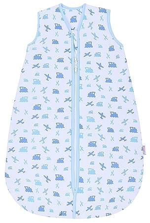 Snoozebag Saco de Dormir Azul diseño de Aviones y Trenes, 100% algodón, 2, 5 TOG Azul Azul Talla:0-6: Amazon.es: Ropa y accesorios