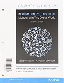 Amazon information systems today managing in a digital world information systems today managing in a digital world student value edition plus mylab mis fandeluxe Choice Image