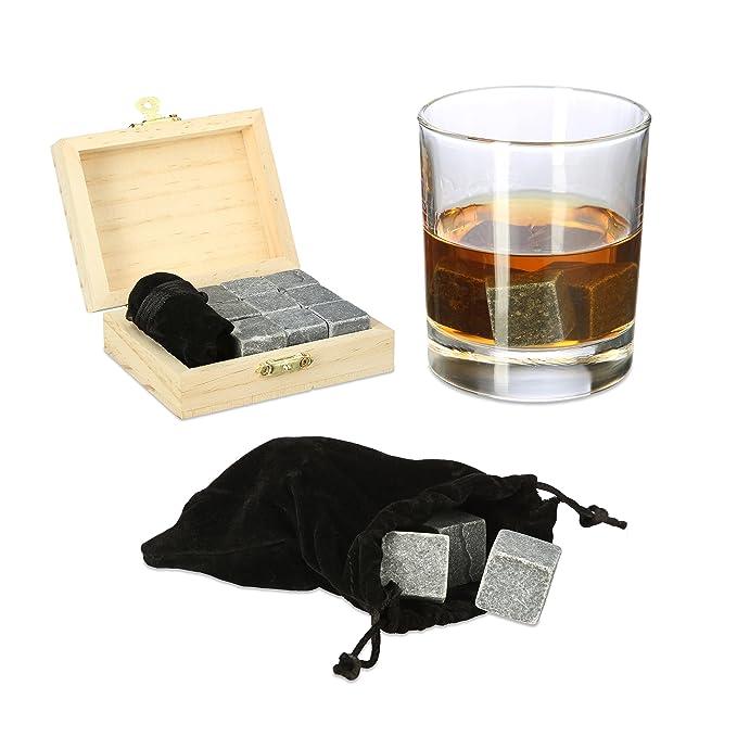 Compra Relaxdays - Piedras de Whisky, esteatita, Cubitos de Hielo Reutilizables, Set de Regalo, con Caja, Alto x Ancho x Profundo: 3, 5 x 10 x 8 cm, ...