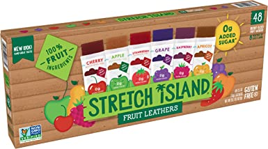 Stretch Island Fruit Leather Variety Pack 48-Count, 0.5-Ounce Package: Amazon.es: Alimentación y bebidas