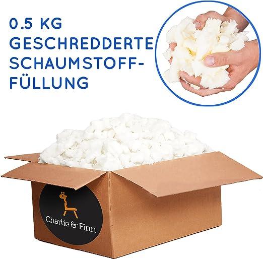 Schaumstoffflocken Flocken F/üllmaterial aus Schaumstoff f/ür Kissen und Polster Kg:12 Kg