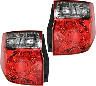 Taillights Taillamps Rear Brake Lights Lamps Pair Set for 03-08 Honda Element