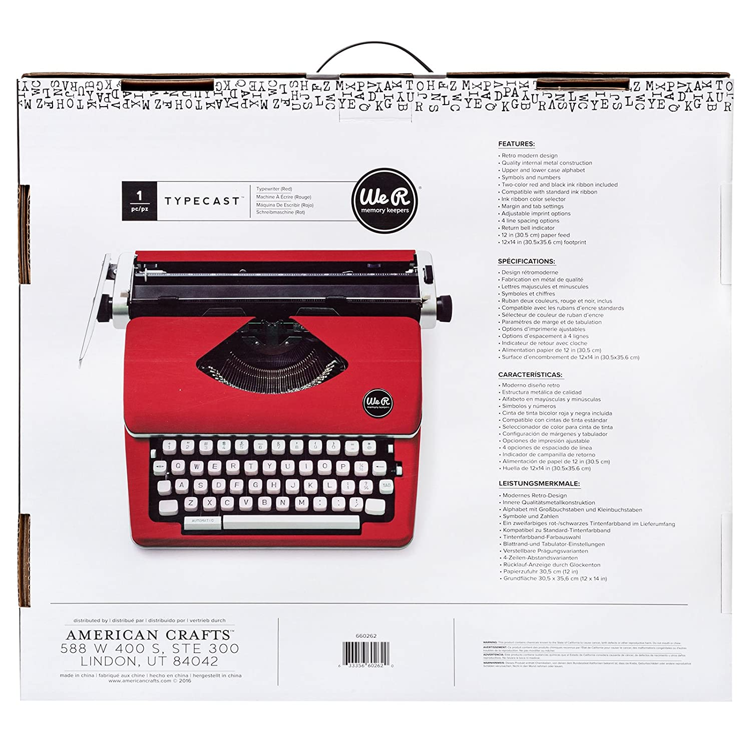 Typecast Retro Typewriter by We R Memory Keepers | Red