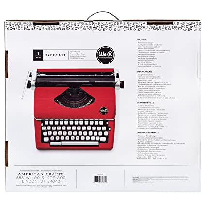 We R Memory Keepers Máquina de Escribir Typecast Typewriter Roja: Amazon.es: Hogar