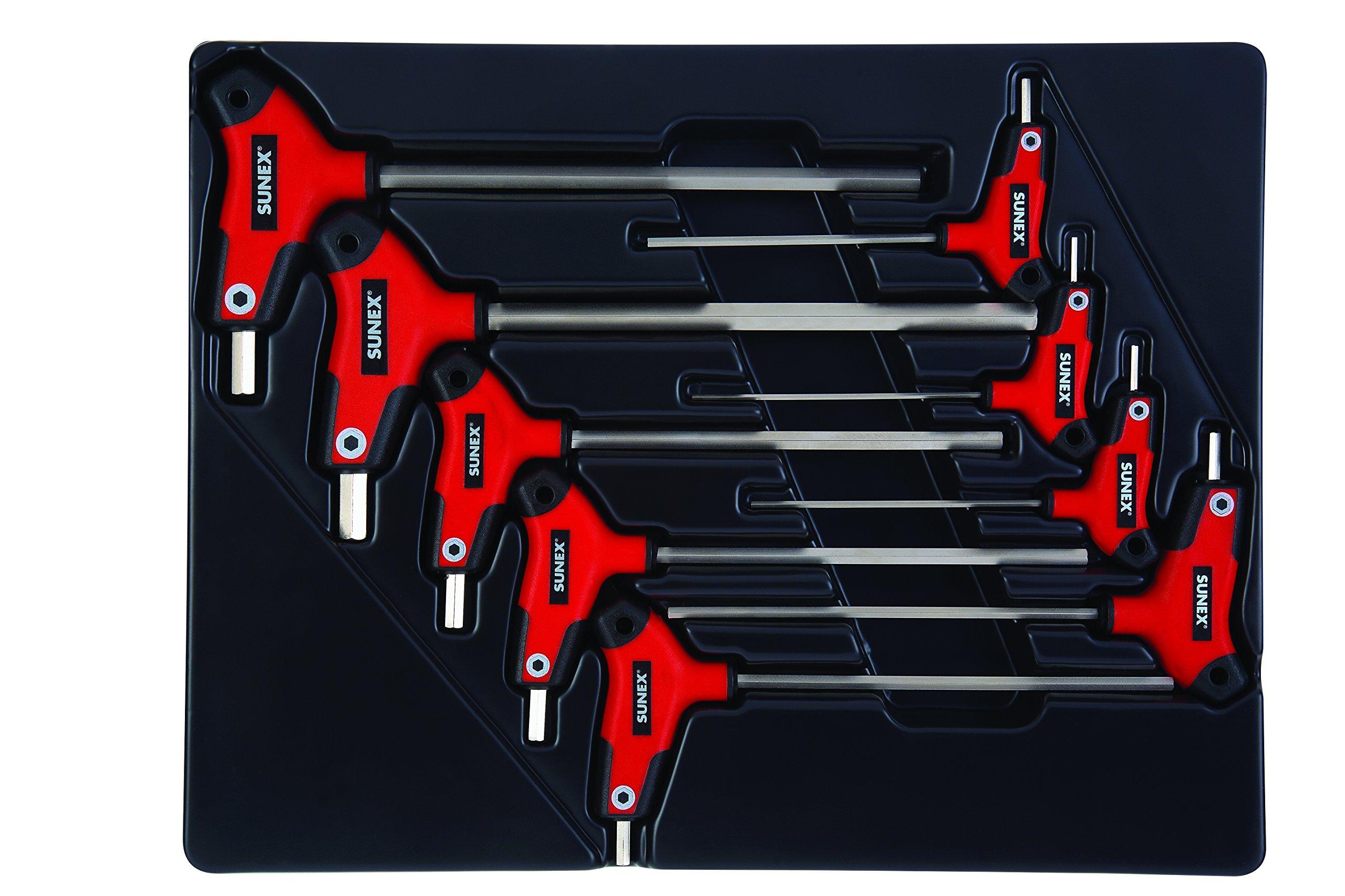 Sunex 9859 T-Handle - SAE - Hex Key Set (9 Piece) by Sunex Tools