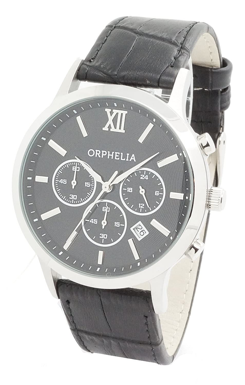 ORPHELIA Herren-Armbanduhr Chronograph Quarz Kunstleder 155-6900-44