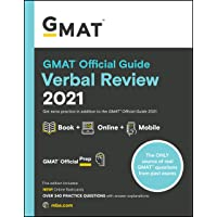 GMAT Official Guide Verbal Review 2021: Book + Online Question Bank