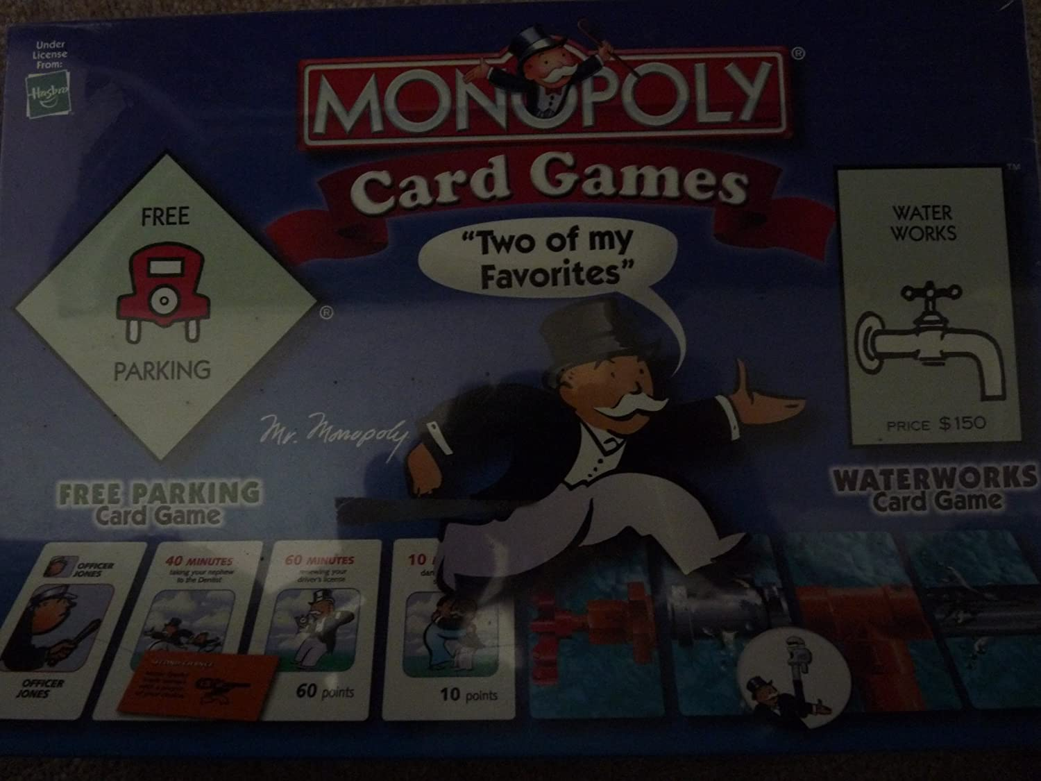 Board Games Hasbro Monopoly Card Games - Free Parking and Waterworks - Both in One Box! by: Amazon.es: Juguetes y juegos