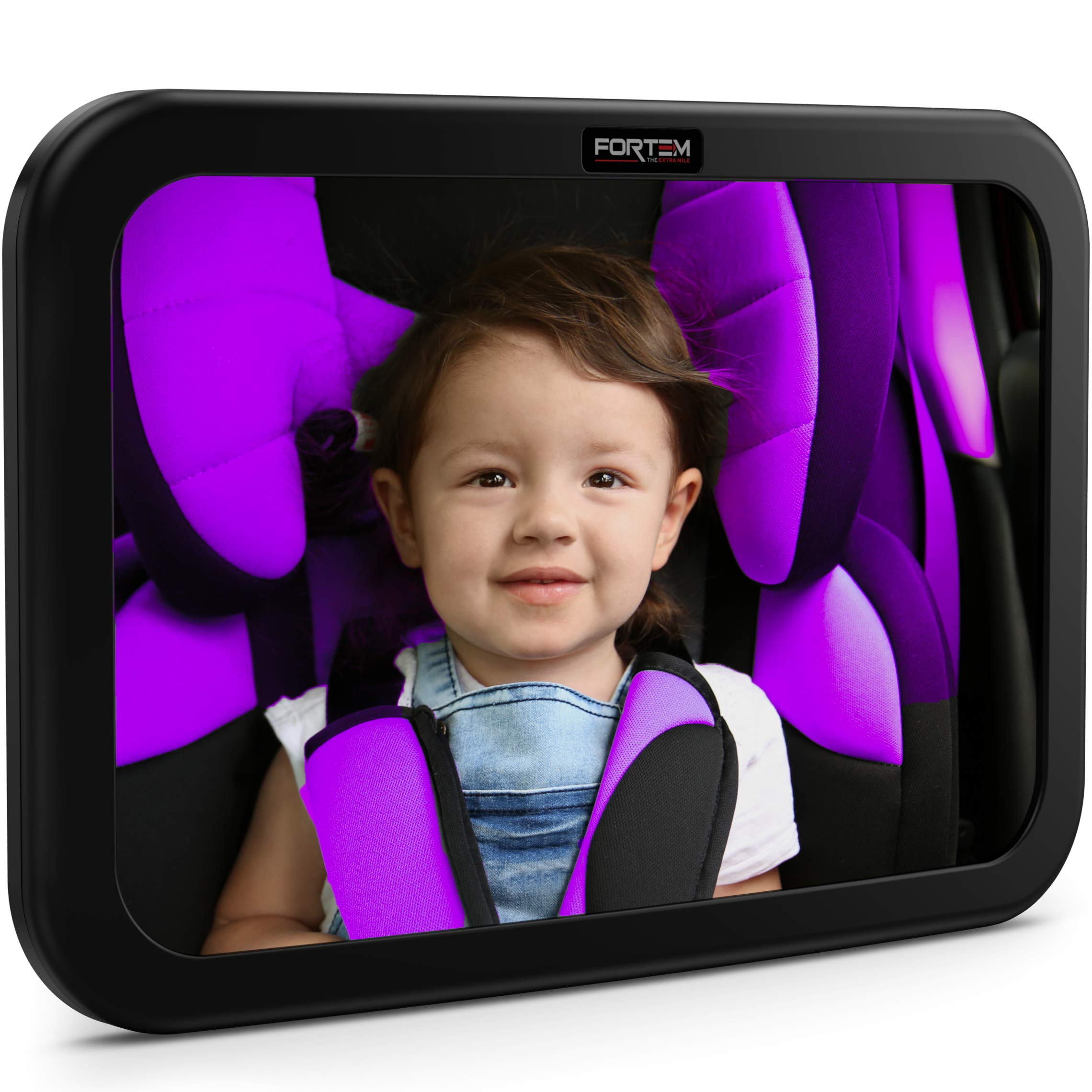 FORTEM Baby Car Mirror, Wide Angle w/Shatterproof Glass, Crash Tested for Safety by FORTEM
