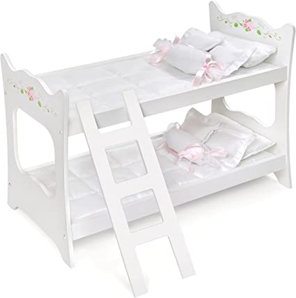 Paint Your Life Letto A Castello.Amazon Com Badger Basket White Rose Doll Bunk Bed Fits American