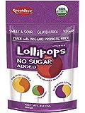 Koochikoo Sugar Free Organic 4 Flavour Lollipops Pouch 60 g, Mixed