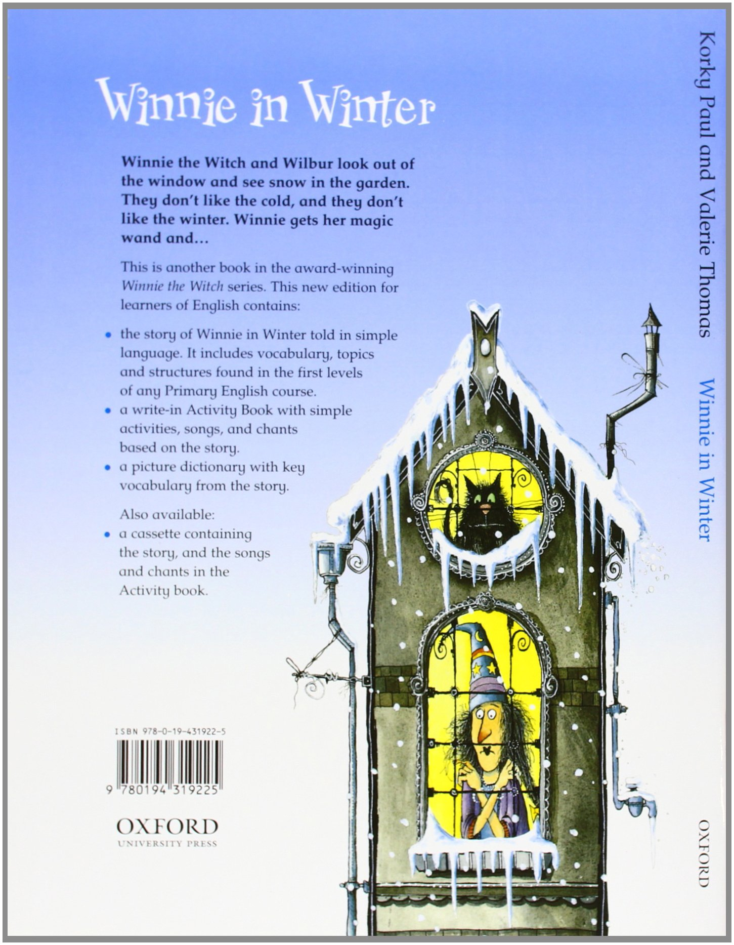 winnie in winter storybook with activity booklet korky paul