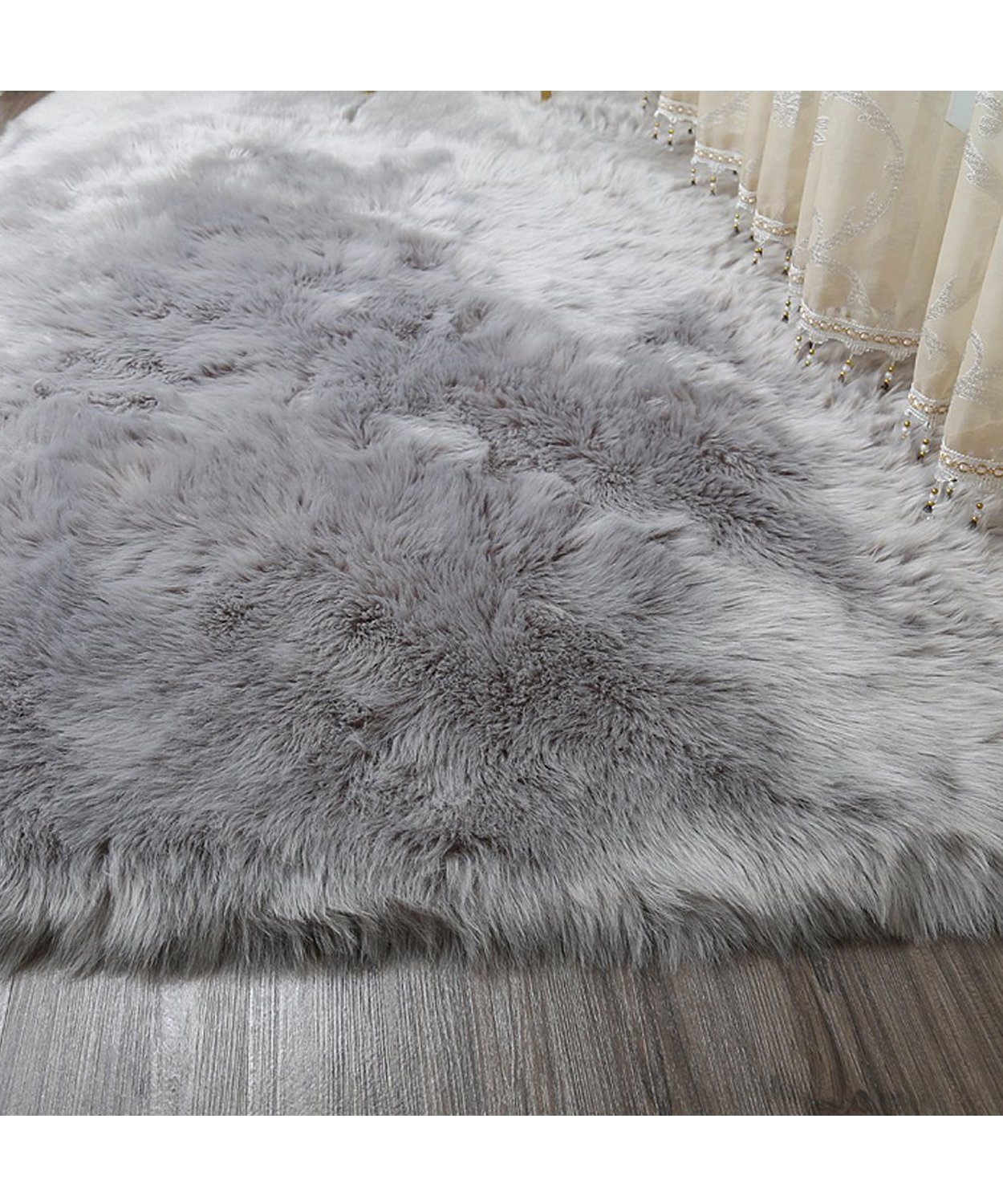 Amazon.com: GIANCO FERRO Rectangle Sheepskin Rug Super Soft Fluffy Area Rug Vanity Chair Cover Rug/Solid Shaggy Area Rugs For Living Bedroom Floor - Grey ...