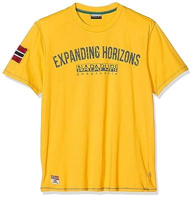najlepszy wybór kupować najlepszy wybór Napapijri Short Sleeve T-Shirt SELIZE, Mens.   Amazon.com
