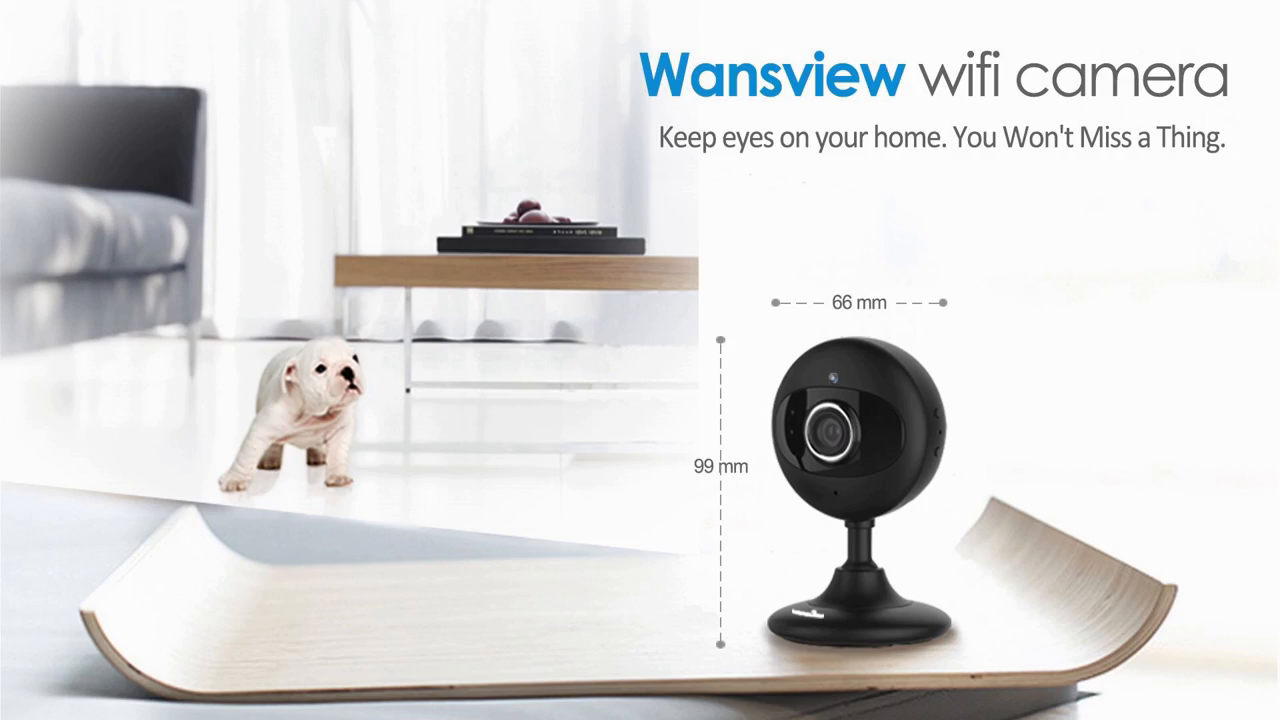 Wansview Wireless IP HD Camera, Home WiFi Security Surveillance Camera for Baby/Elder/Pet/Nanny Monitor with Night Vision and Two Way Audio K2 (White)