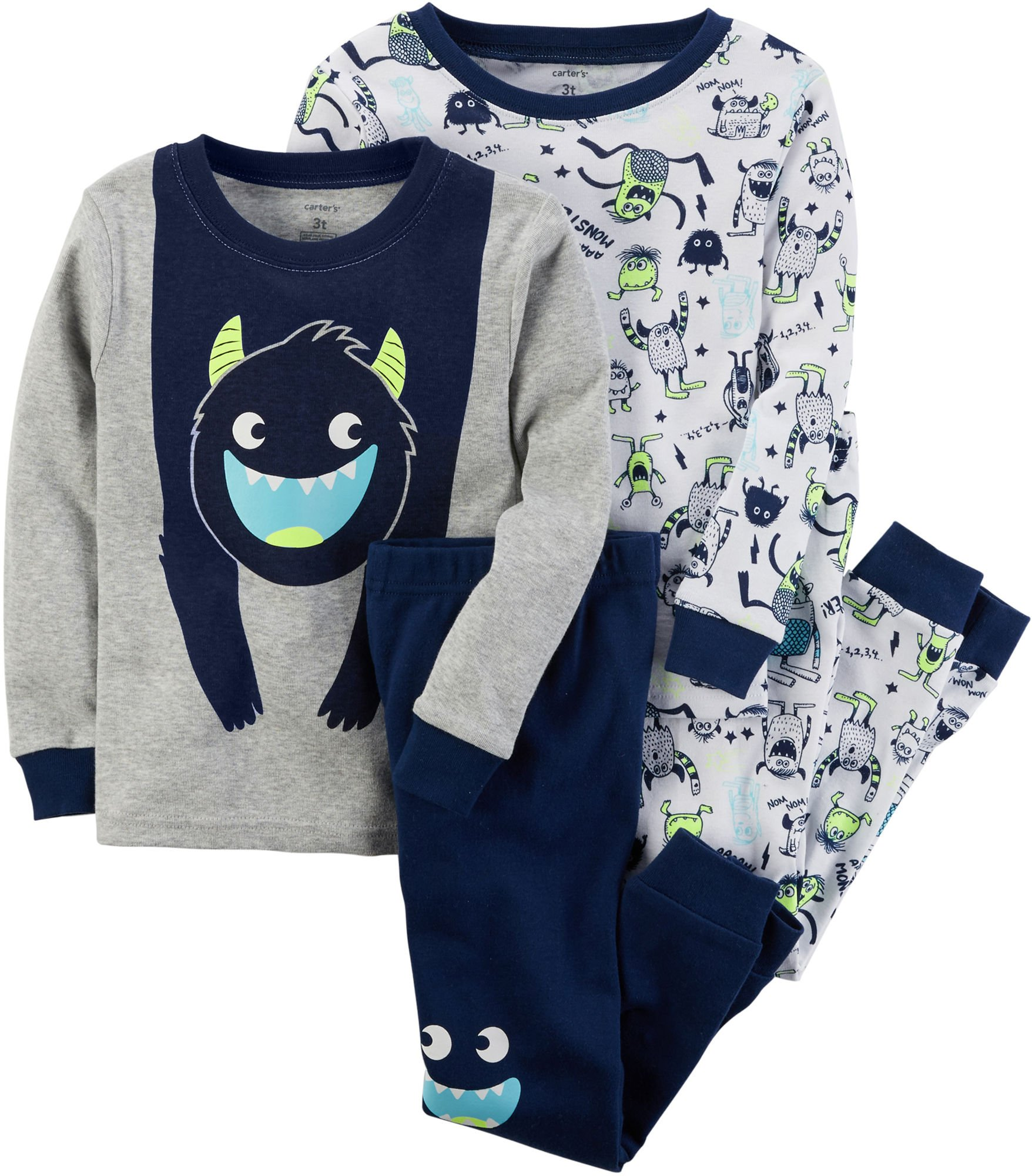 102f3fb683ab Carter s Baby Boys  12M-24M 4 Piece Glow-In-The-Dark Snug Fit Cotton ...