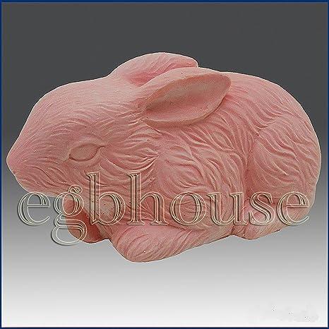 Conejo de peluche – 3d jabón/vela/polímero/arcilla/porcelana fría moldes