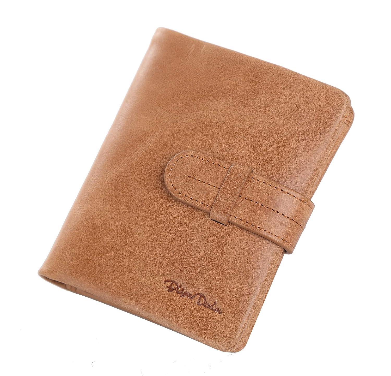 e77bfa6218a8 BISON DENIM Bifold Wallet Genuine Leather Credit Card Holder Wallet ...