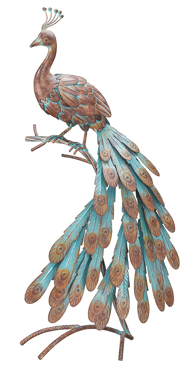 Gentil Amazon.com : Regal Art U0026Gift Rustic Peacock Decor : Statues : Garden U0026  Outdoor
