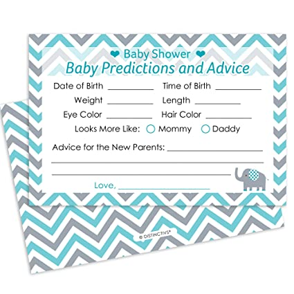 Amazon Teal Blue And Gray Elephant Boy Baby Shower Advice And