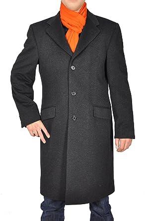 reine Sehr Mantel Schurwolle hochwertiger Herren ALR534j