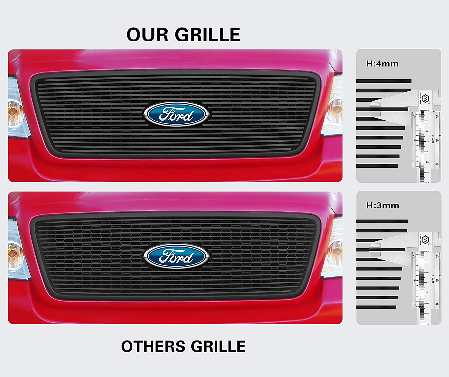 APS Compatible with 2010-2012 Ford Mustang Black Billet Grille Insert with Logo Show V6 Only S18-H45666F