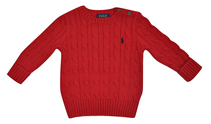 Polo Ralph Lauren - Pull - Bébé (garçon) Rouge rouge 12 mois  Amazon ... 0cb89840ae9