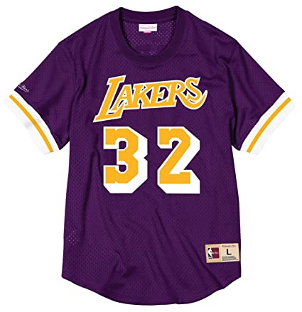 4dc73d231e7 Image Unavailable. Image not available for. Color  Magic Johnson Los  Angeles Lakers Mitchell   Ness NBA Men s Mesh Jersey Shirt