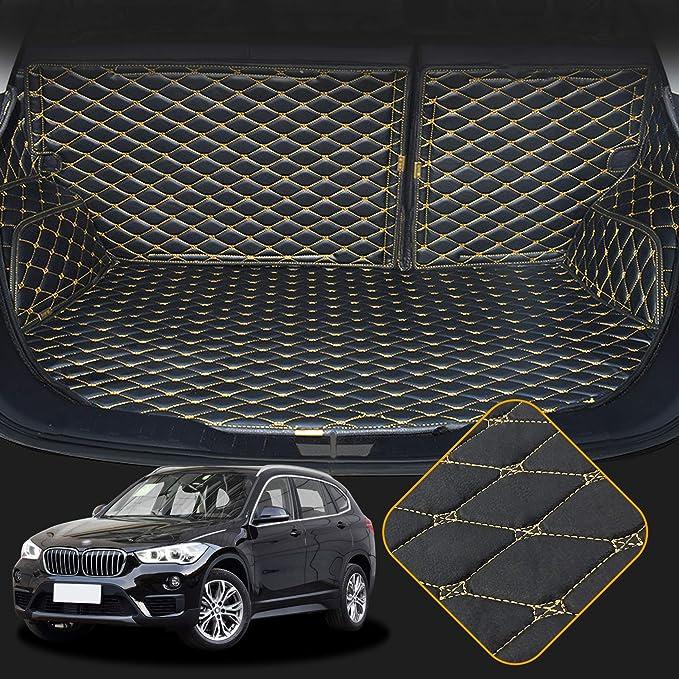 Orealtech Kofferraummatte Auto Für Bmw X1 F48 2016 2019 Allwetter Xpe Leder Kofferraumwanne 3d All Inclusive Stil Schmutzfangmatte Auto