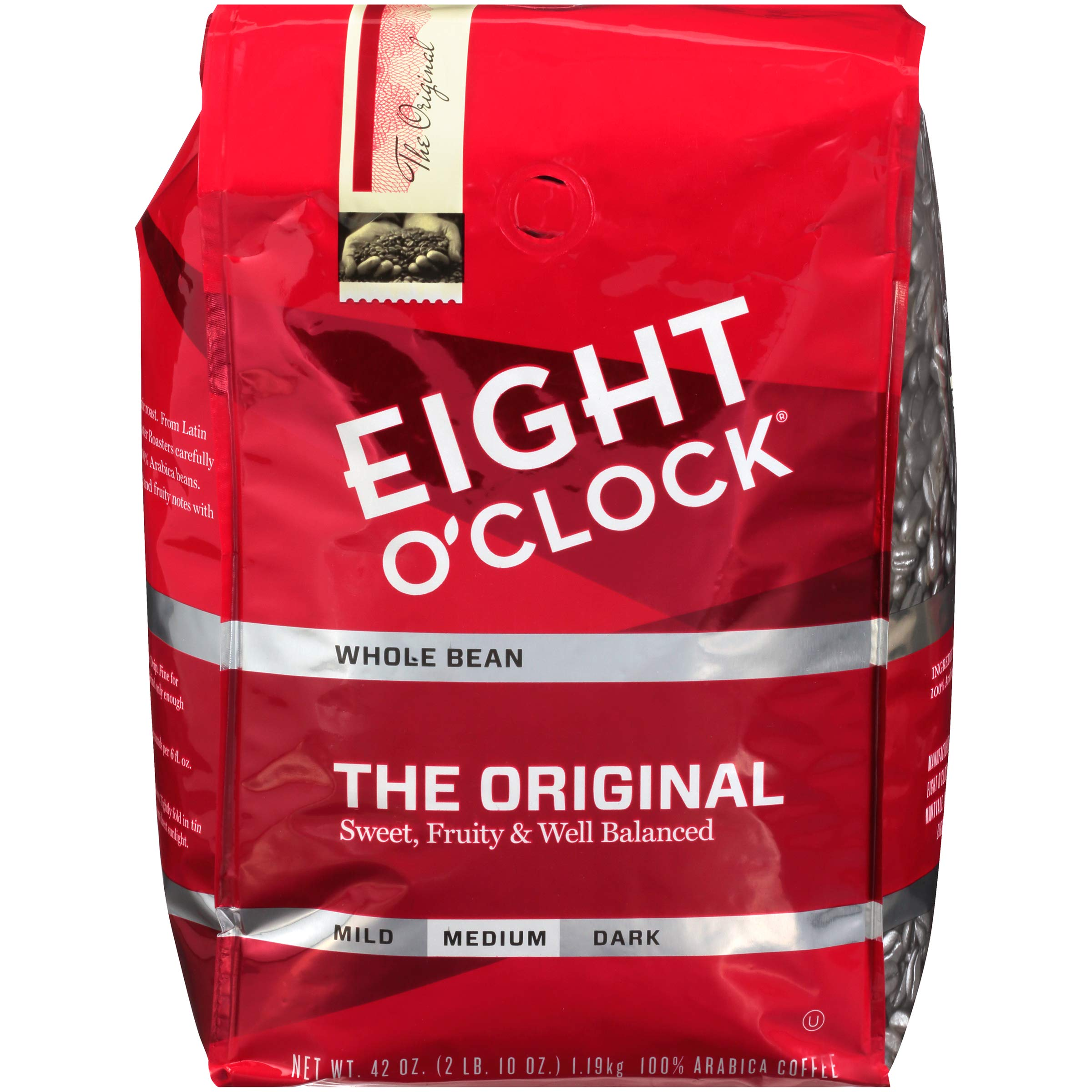 Eight O'Clock Whole Bean Coffee, The Original, 42 Ounce (Packaging May Vary) by Eight O'Clock Coffee
