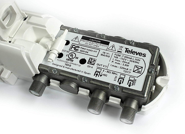 Televes DiNova Boss Mix UHF//VHF HDTV Antenna w//LTE Filter 144282