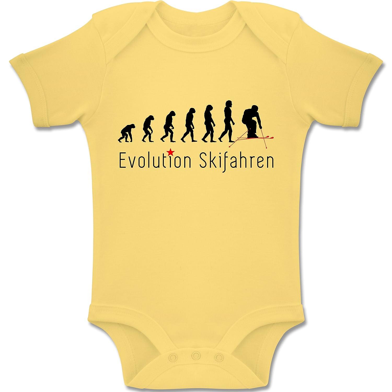 Evolution Baby - Skifahren Evolution - Kurzarm Baby-Strampler / Body für Jungen und Mädchen