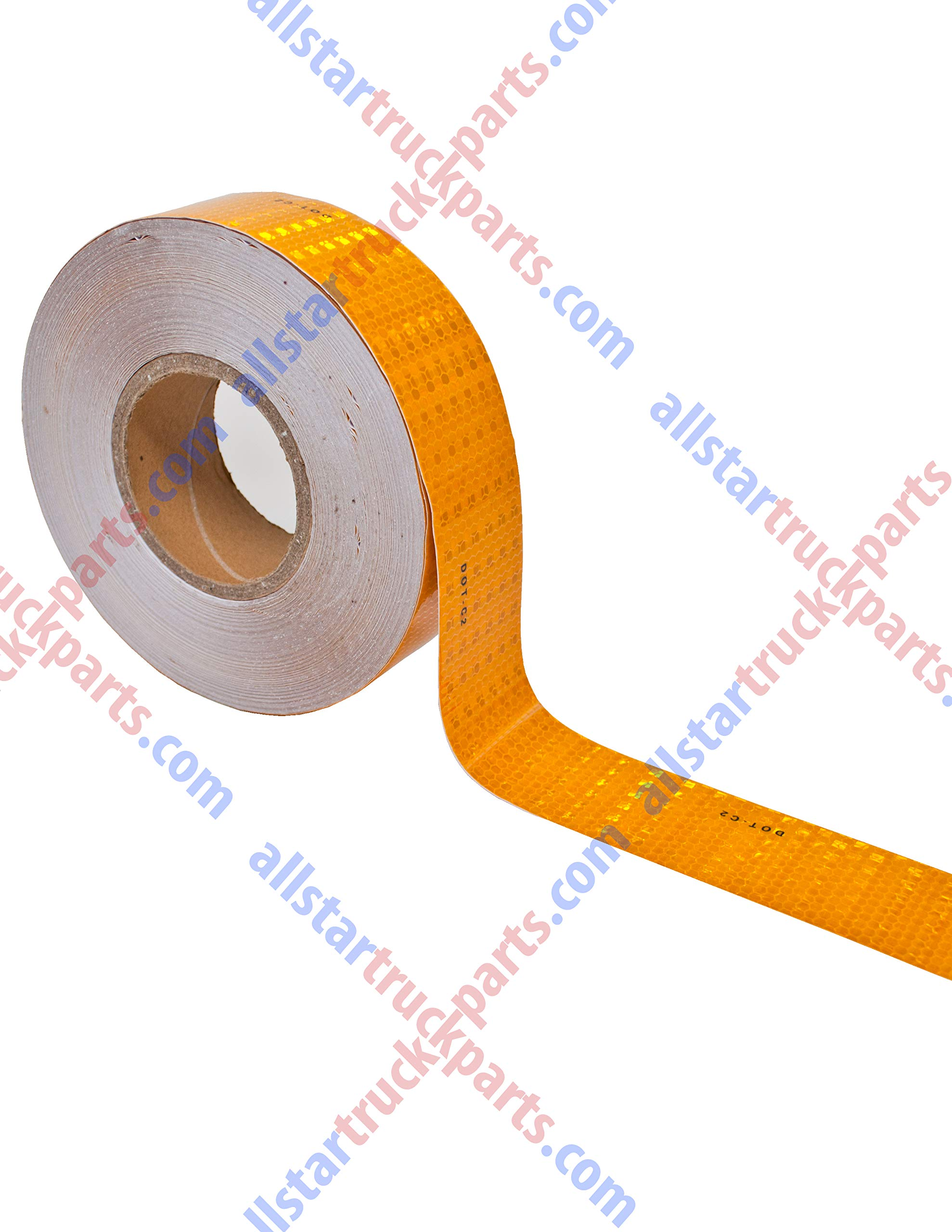 DOT Reflective Tape DOT-C2 Conspiciuity Tape - COMMERCIAL ROLL - 2'' inch x 150' FEET - Automobile Car Truck Boat Trailer Semi (Yellow/Orange)