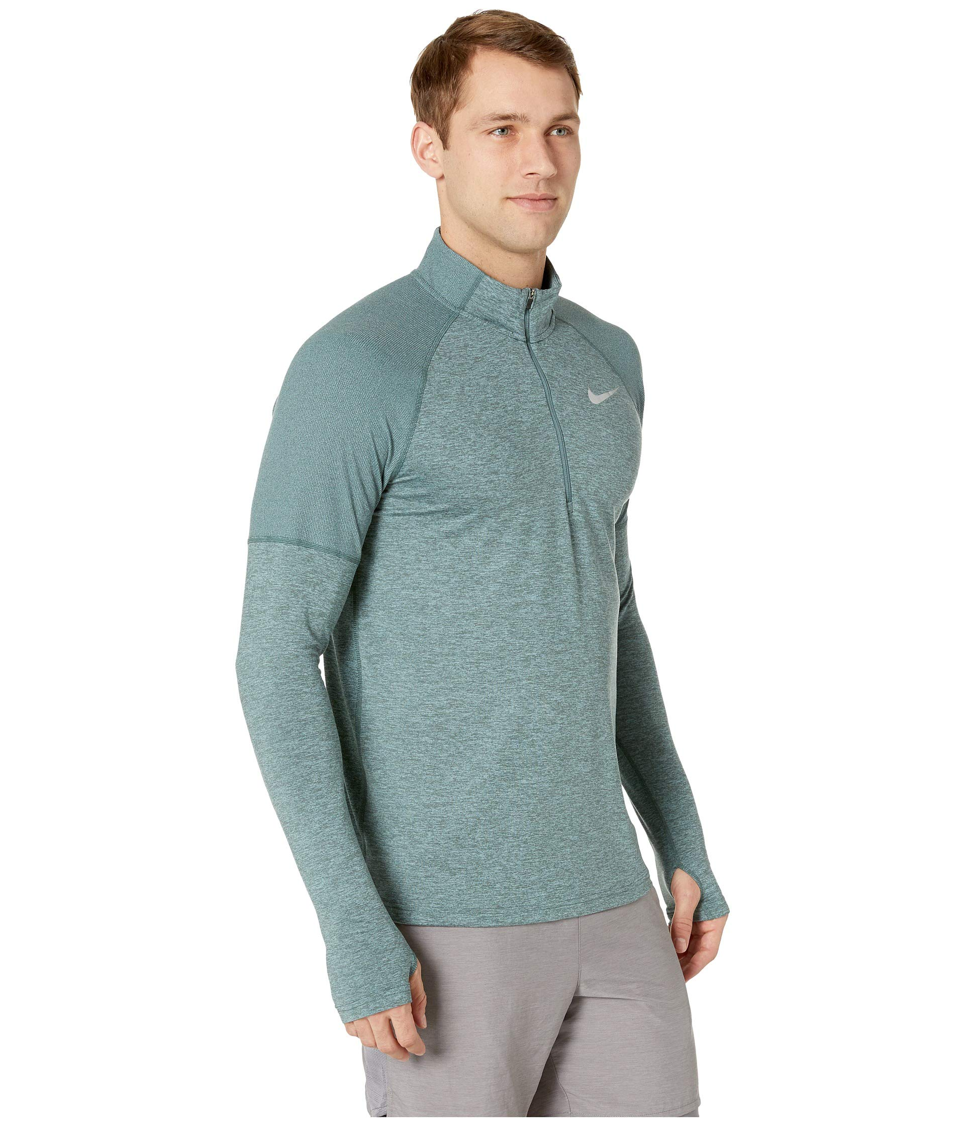 Nike Men's Element 1/2 Zip Running Top Hasta/Aviator Grey/Reflective Silver Size Small by Nike (Image #5)