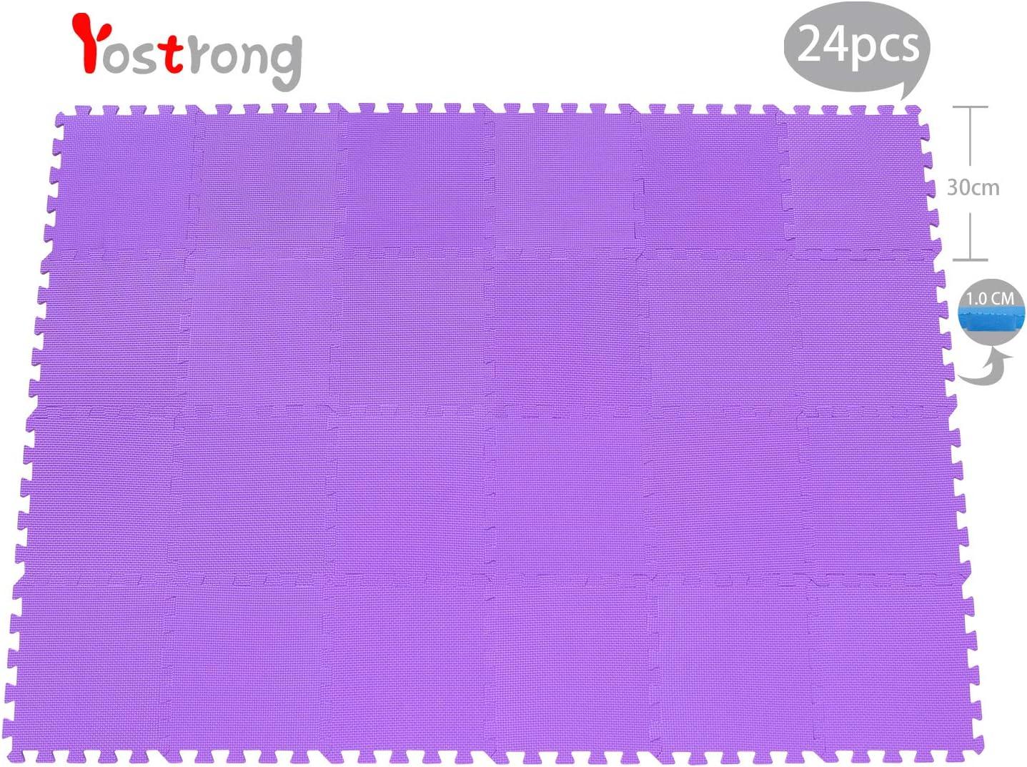 YC-Eb24N Yostrong 1.62㎡ Gelb 24 Piece Puzzlematte Baby Gro/ß Spielmatte Puzzle Baby Spielen Kann