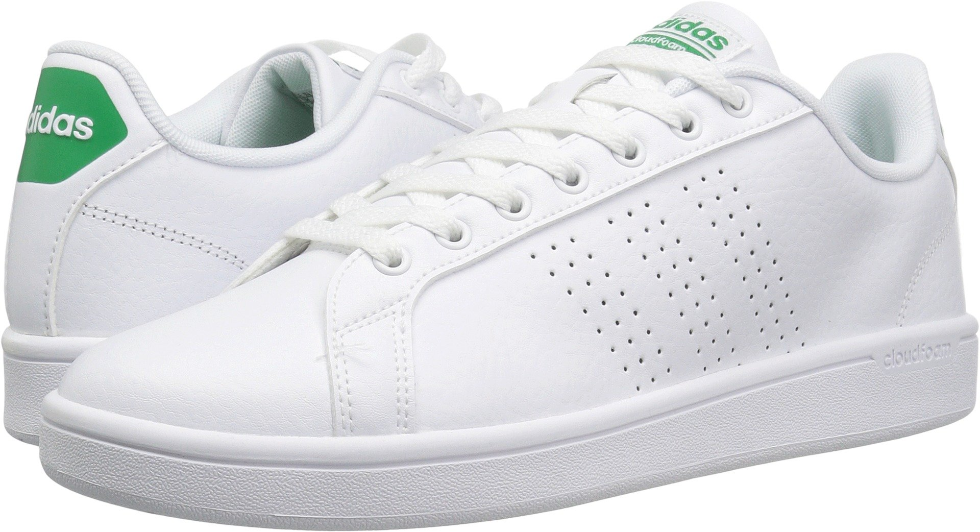 adidas Neo Men's Cloudfoam Advantage Clean Sneakers, White/White/Fairway, (9.5 M US) by adidas