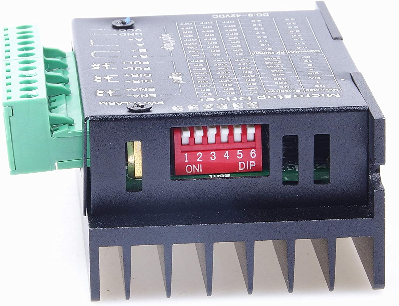 TB6600 4A 9-42V Stepper Motor Driver CNC Controller Stepper Motor Driver Nema tb6600 Single Axes Two Phase Hybrid Stepper Motor for CNC