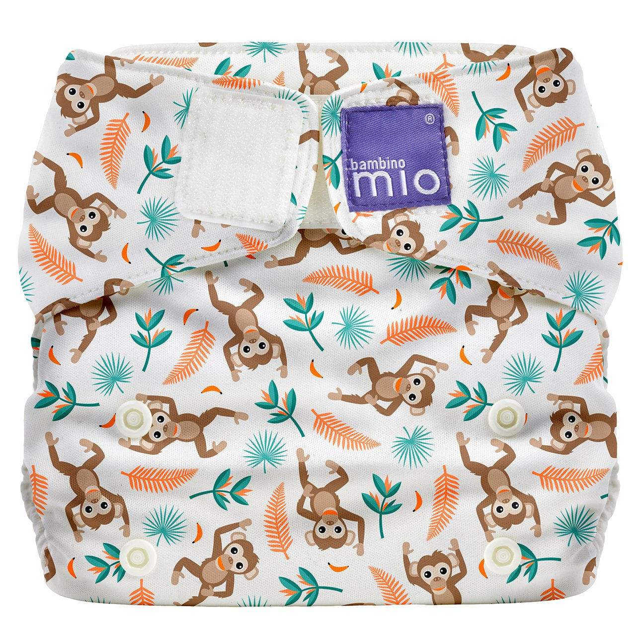 Bambino Mio Miosolo All-in-One Cloth Diaper, Spider Monkey