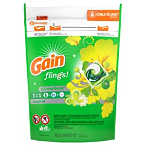 Gain Flings Laundry Detergent Pacs, Original, 35 Count (Packaging May Vary)
