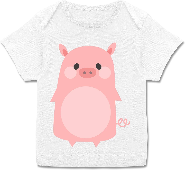 Karneval und Fasching Baby Baby T-Shirt Kurzarm Schwein Kost/üm Shirtracer